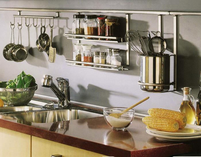 Подвесные кухонные полки