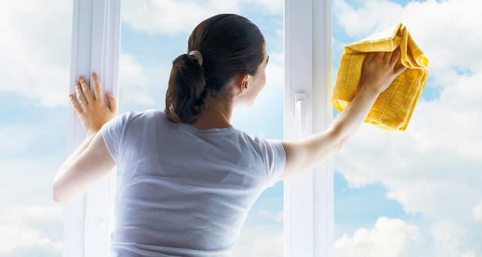 окна на кухне моют