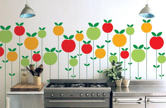 Наклейки для стен кухни