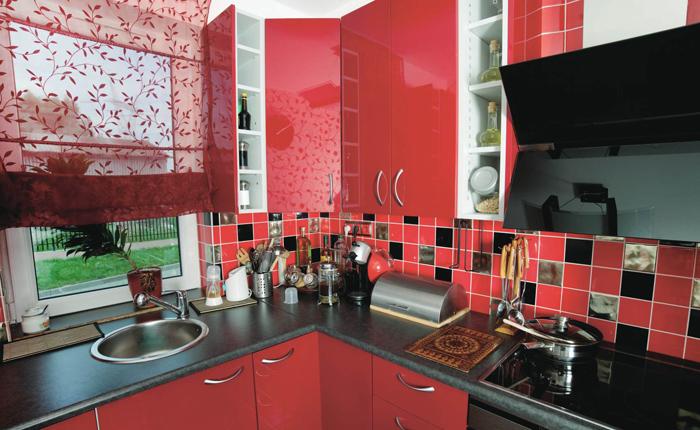 гармоничный интерьер кухни