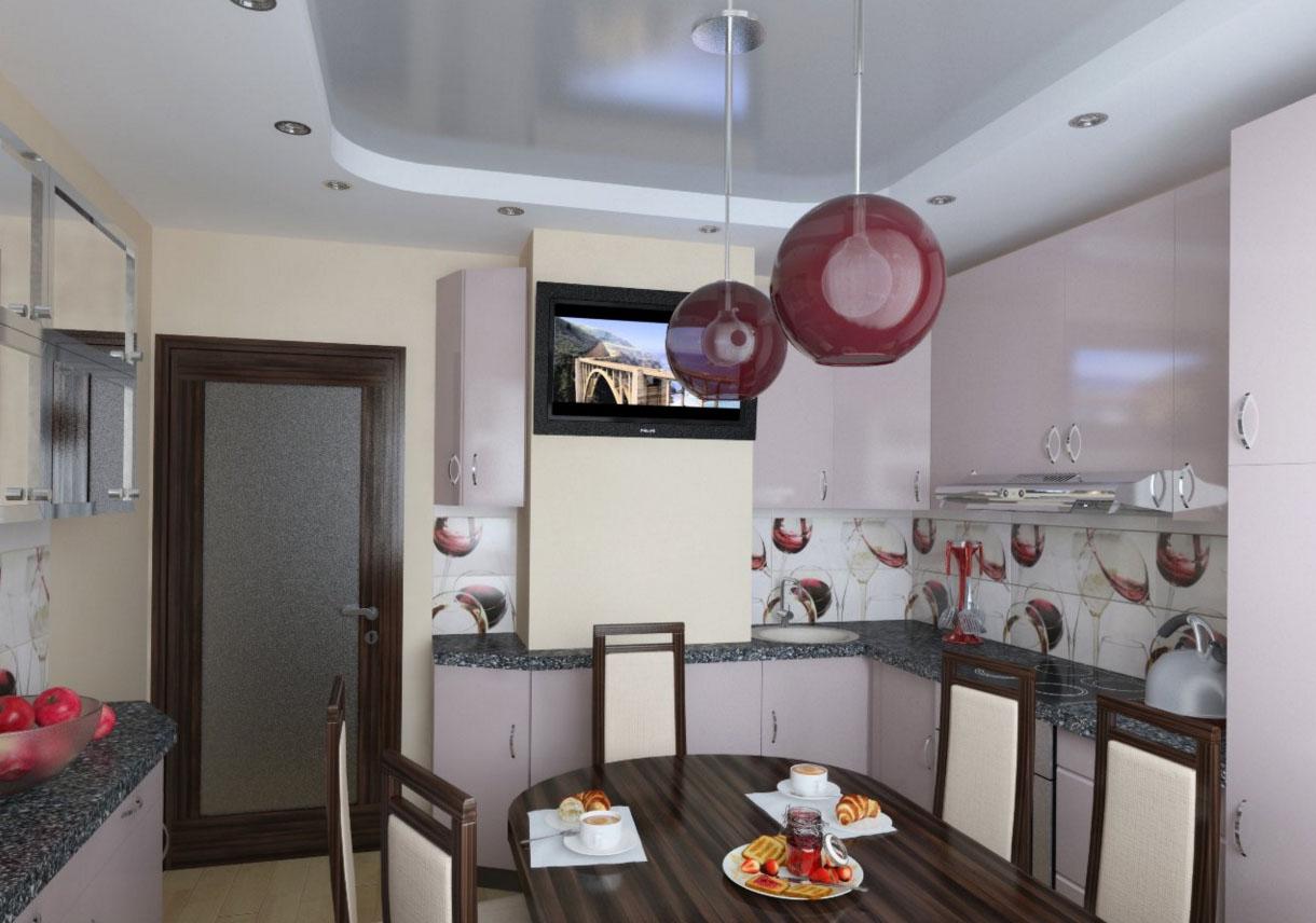 Дизайн кухни дома серии п-44т