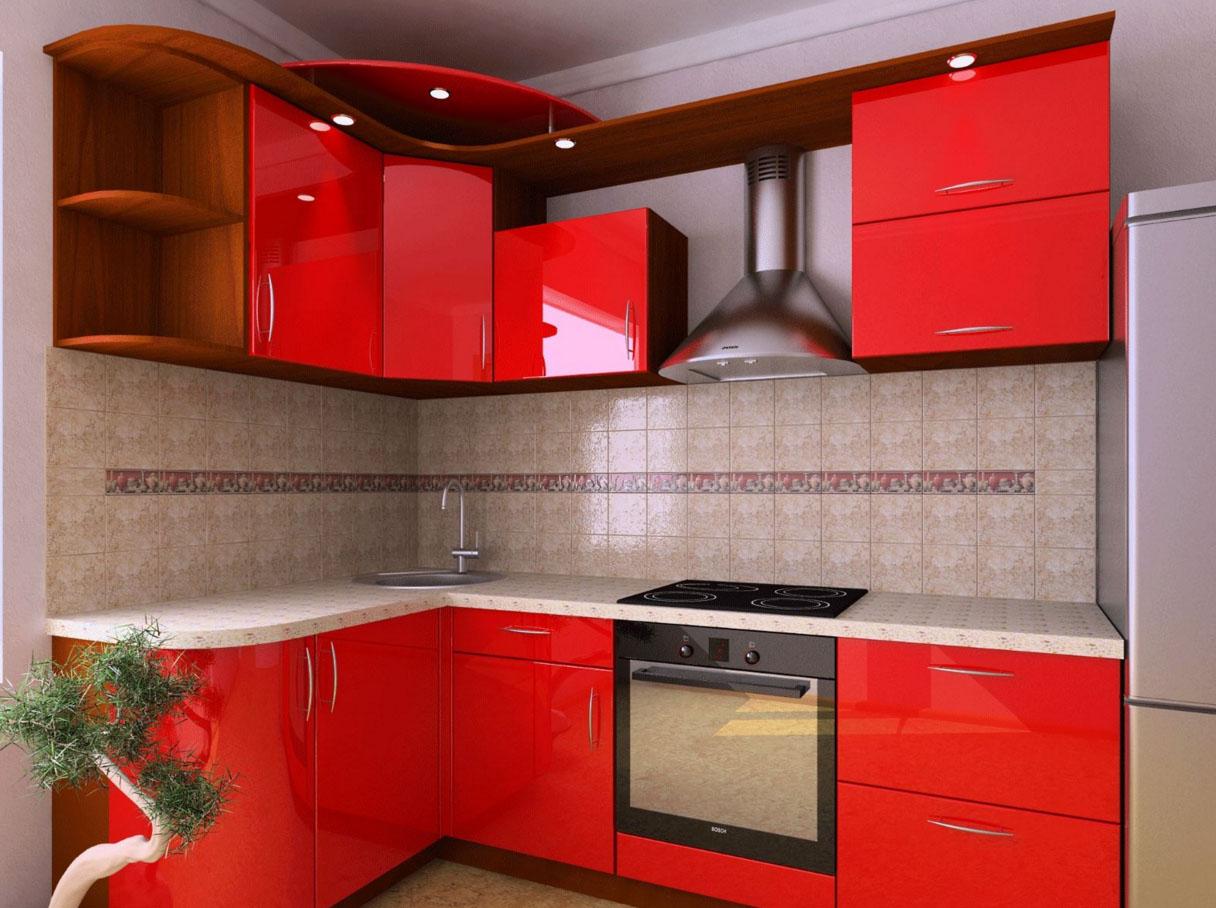 Крашенный фасад кухонного гарнитура