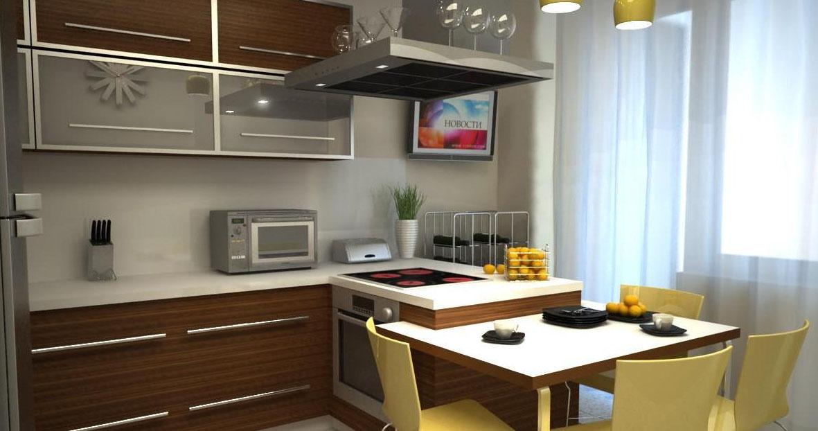 кухня-гостиная дизайн фото 11 кв.м