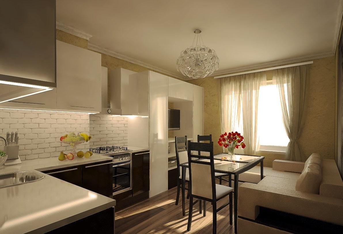 Кухня 15 кв м