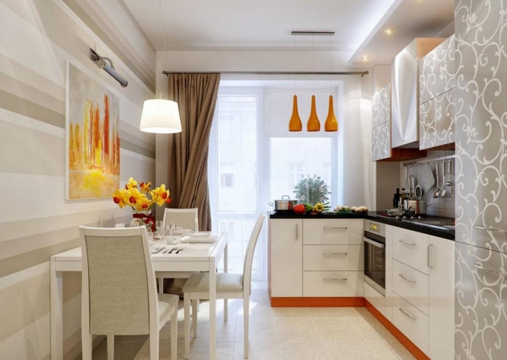 Ремонт кухни 8 квм в кирпичном доме