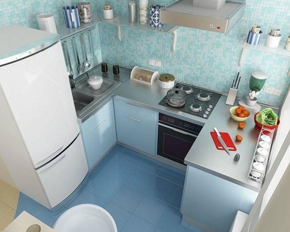 Идеи интерьера маленькой кухни фото