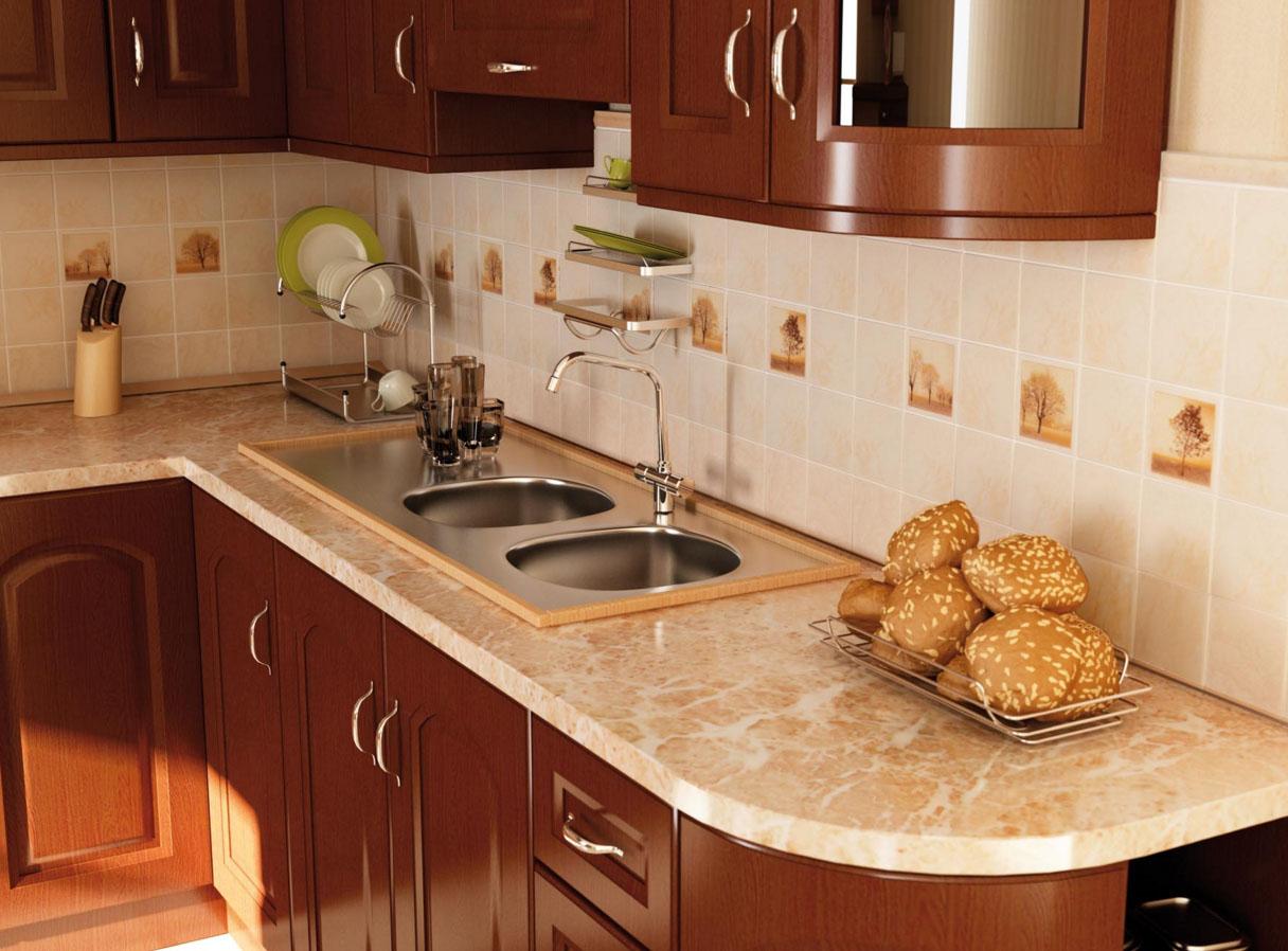 Экран кухни из плитки