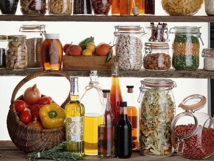 продукты на полке