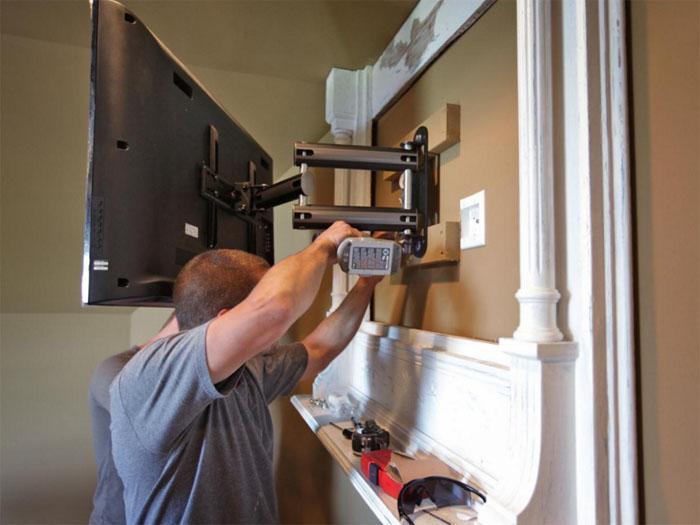 Как сделать крепление для телевизора на стене