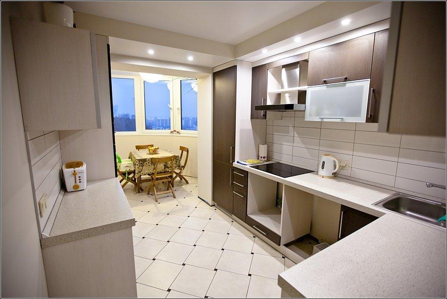 Совместить кухню с балконом дизайн