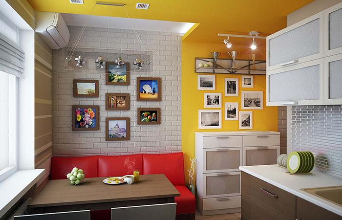 Маленький диван на кухню фото