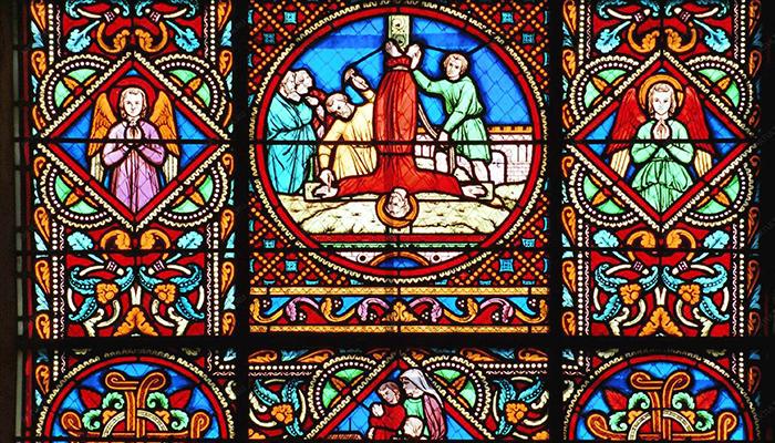 Средневековый витраж