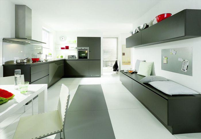 Кухни с серым