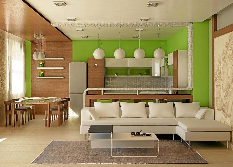 Салатовая комната