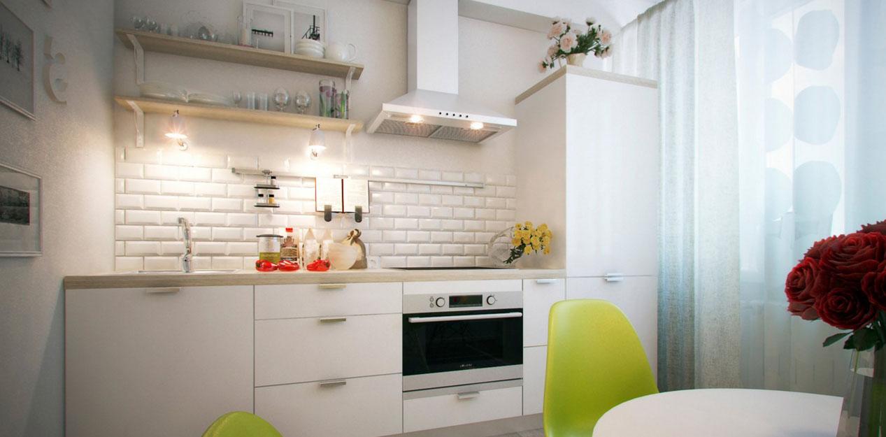 Дизайн интерьер кухни для стандартных кухонь