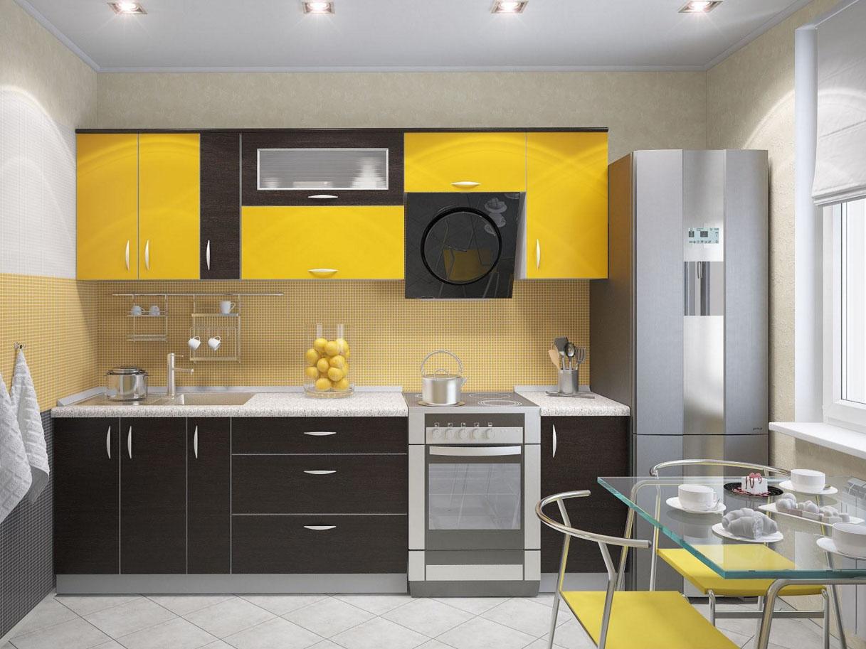 Двухцветная кухня в интерьере фото
