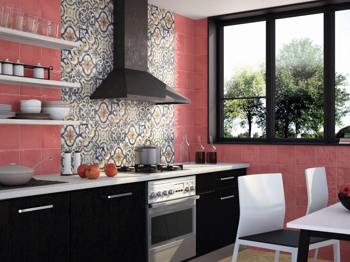Интерьер кухни фото плитка