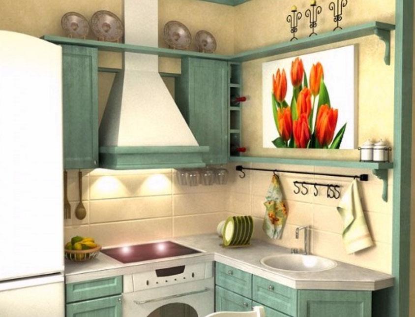 Интерьер в малогабаритной кухне