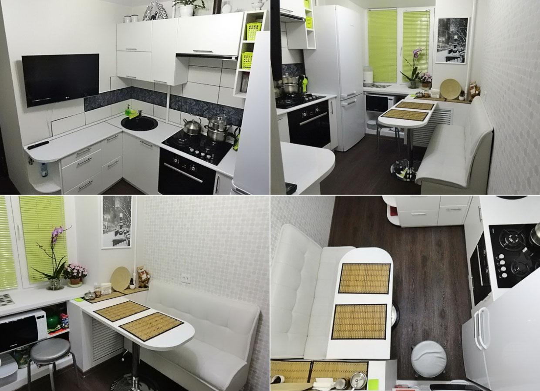 Интерьер маленькой кухни фото 6 кв м фото