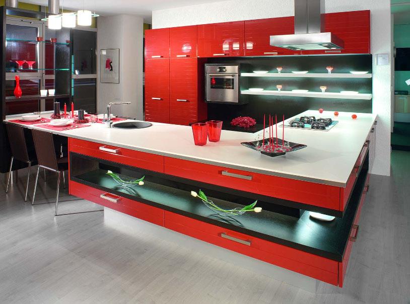 Современная корпусная мебель для кухни