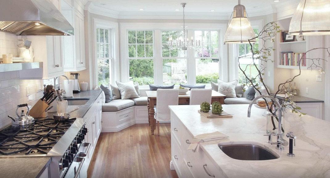 Entschädigung Bogen Sofa in der Küche P44T