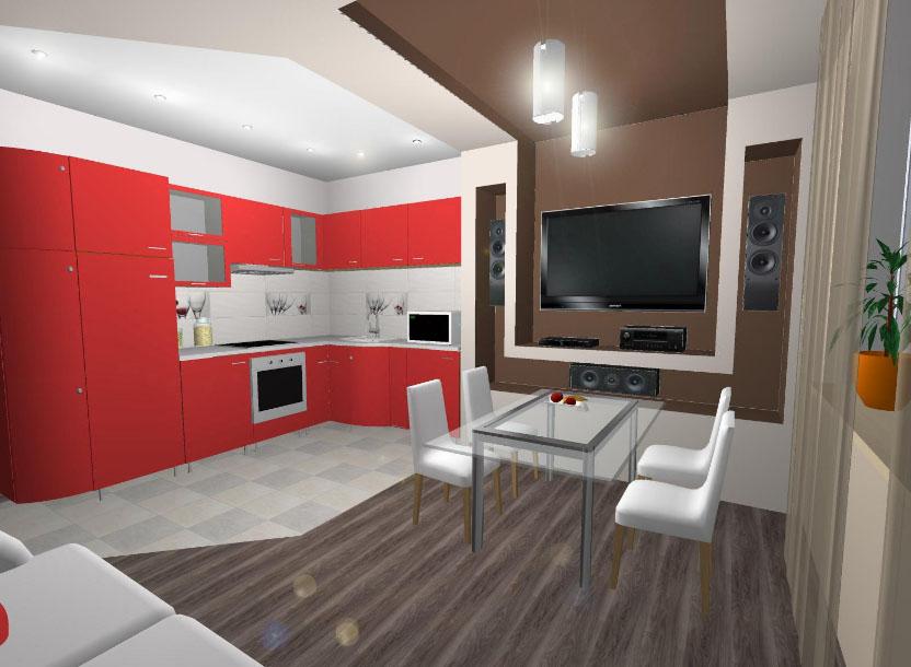 Прямоугольная кухня гостиная дизайн