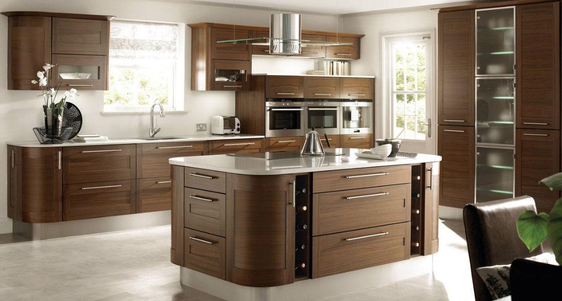 красивая корпусная мебель для кухни