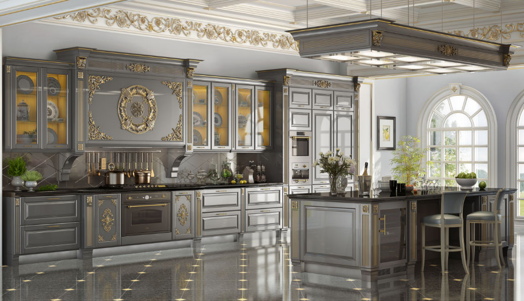 красивая кухня в стиле классика