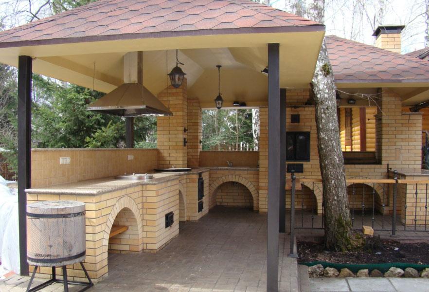 красивый дизайн летней кухни
