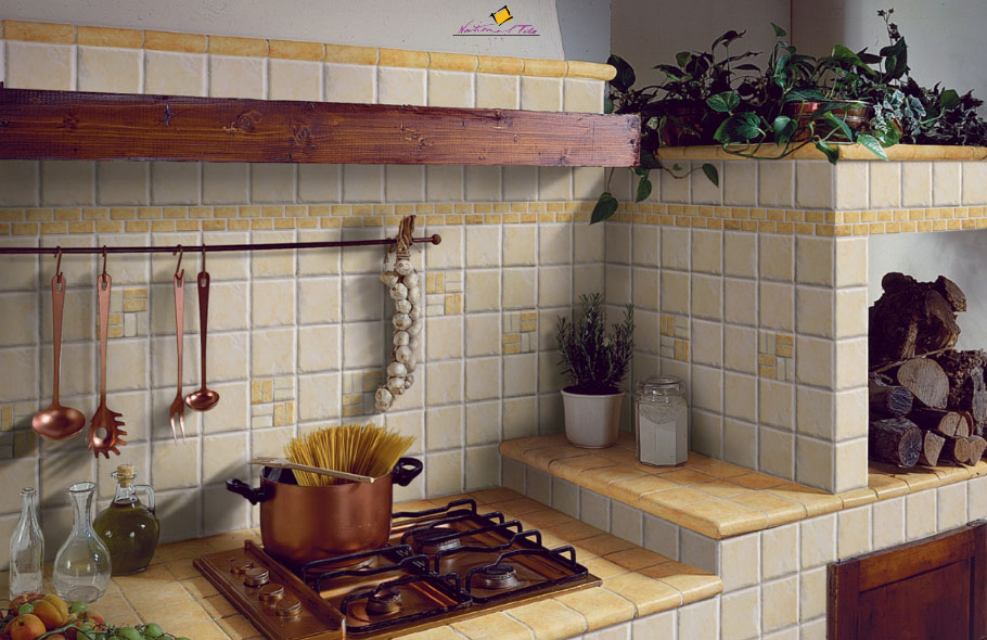 Плитка своими руками на кухне