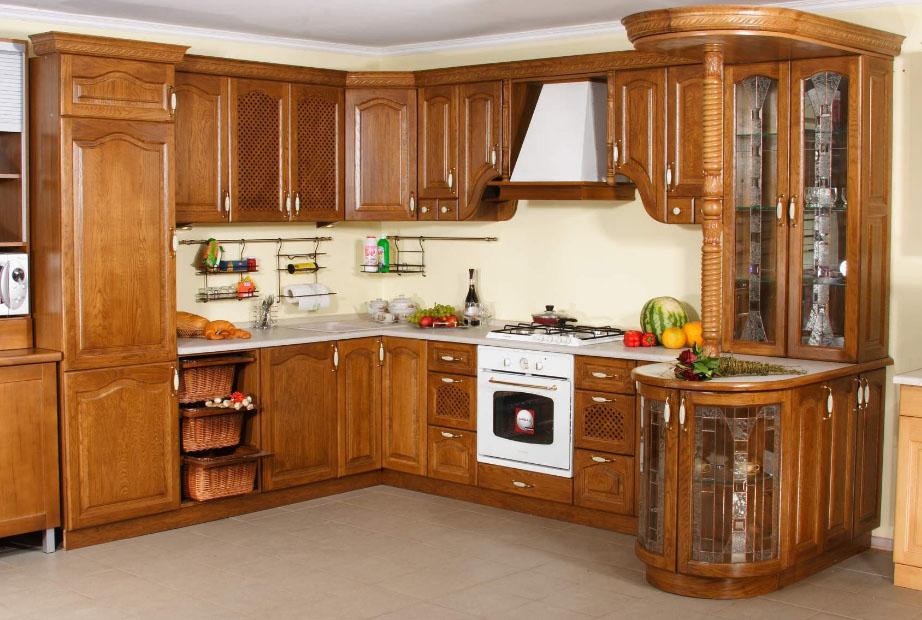 Кухни из натурального дерева фото