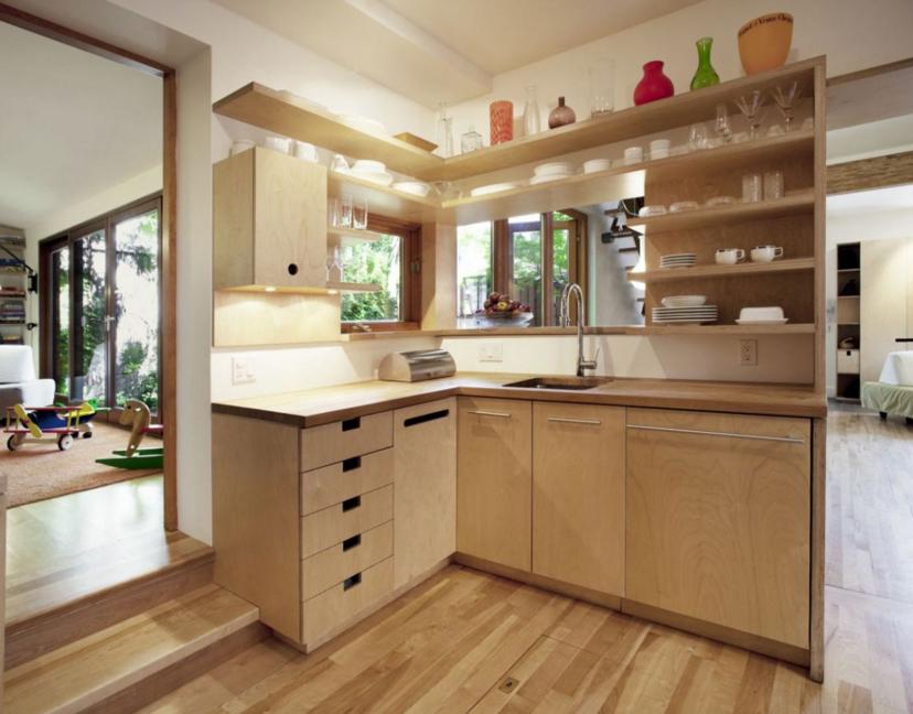 Кухонная мебель из фанеры своими руками фото