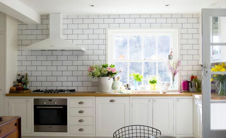 Фартук для кухни белого цвета фото