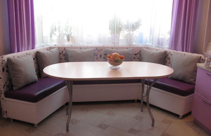 Эркерный диван на кухню своими руками 77