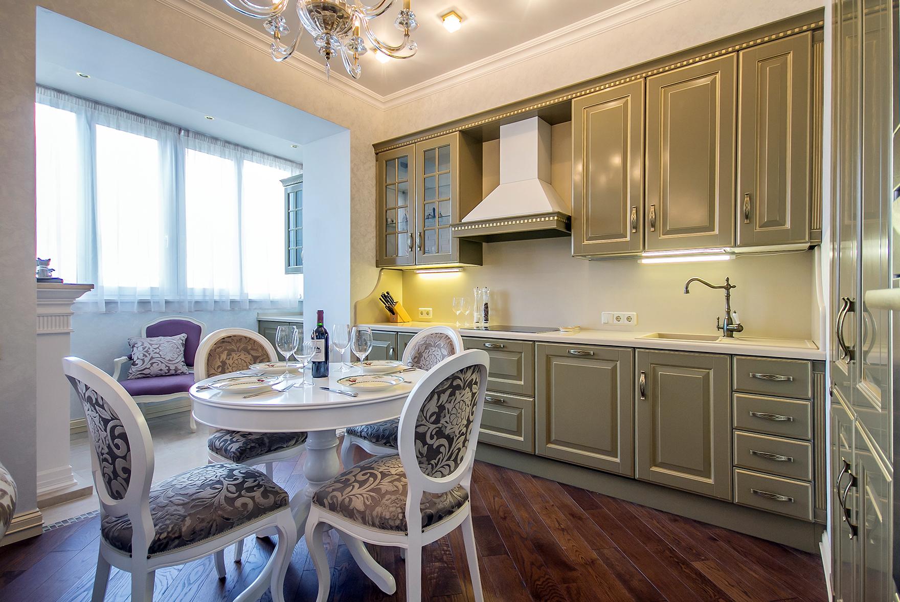 Совместить балкон с кухней (55 фото): интерьер и ремонт соед.