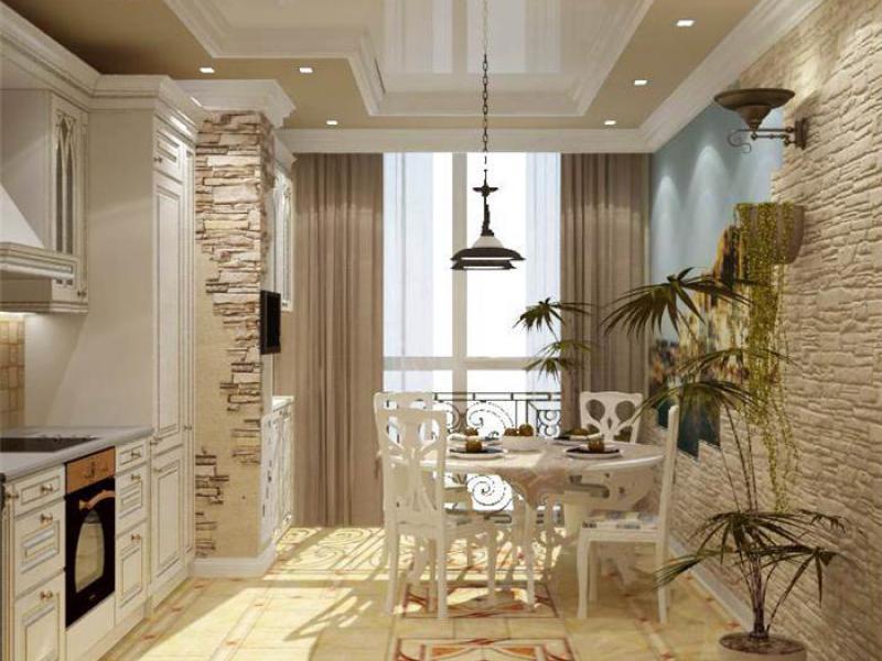 Кухня с балконом дизайн интерьера