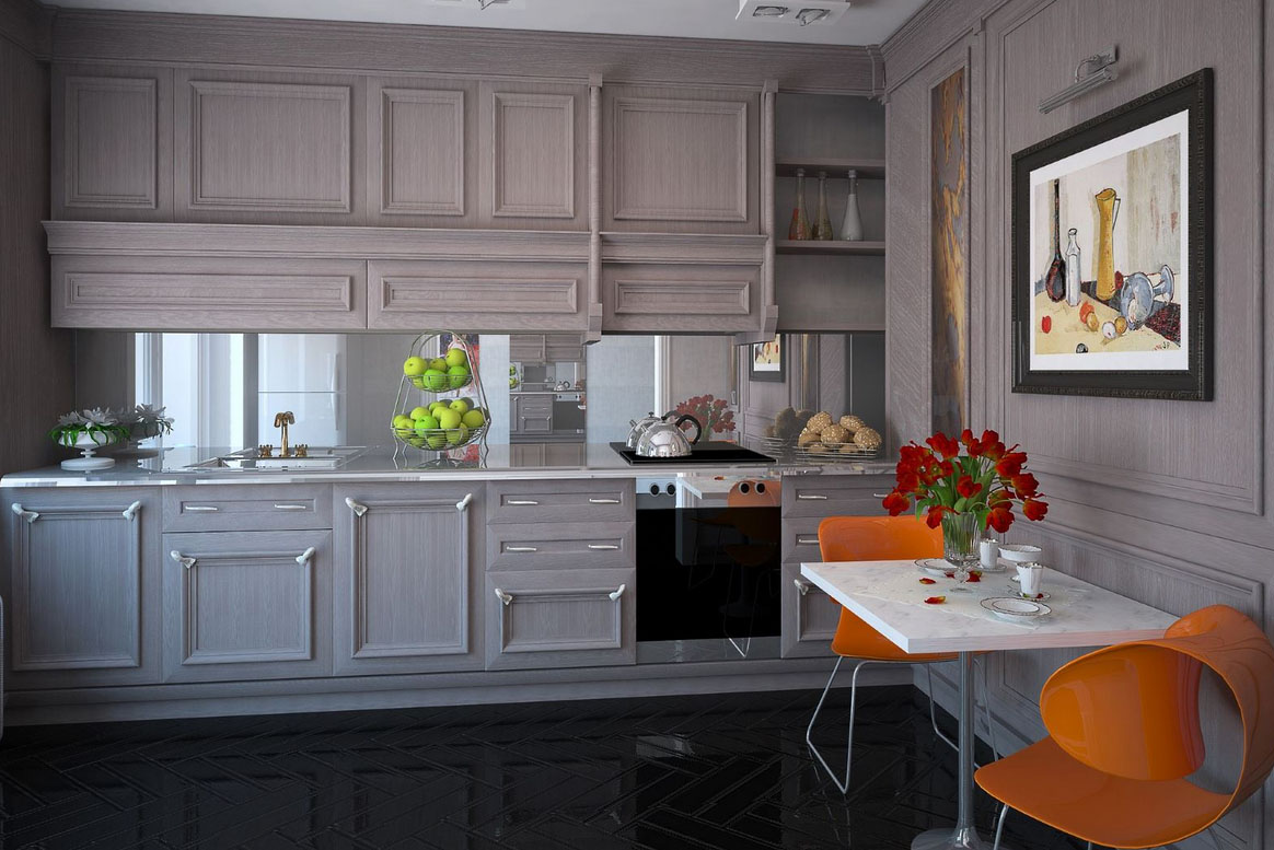 3 секрета установки зеркального фартука на кухне