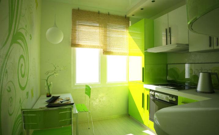 Кухни интерьер и дизайн 7 квм