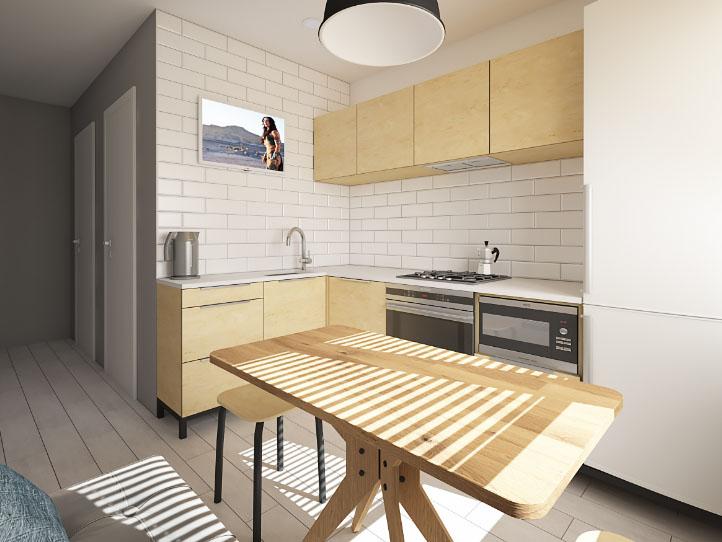 белая кухня 7 квадратов