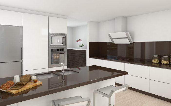 бело-шоколадная кухня