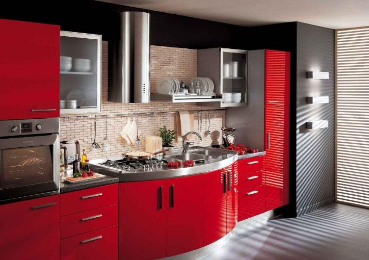красивое цветовое решение кухни