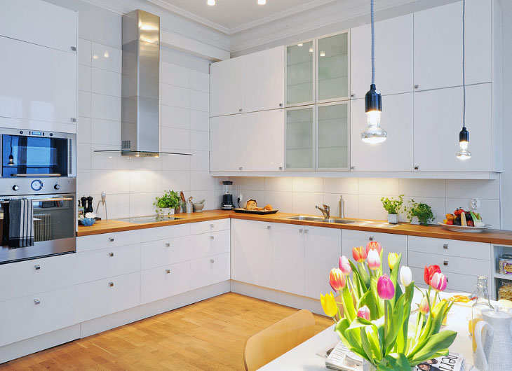 креативная подсветка на кухне