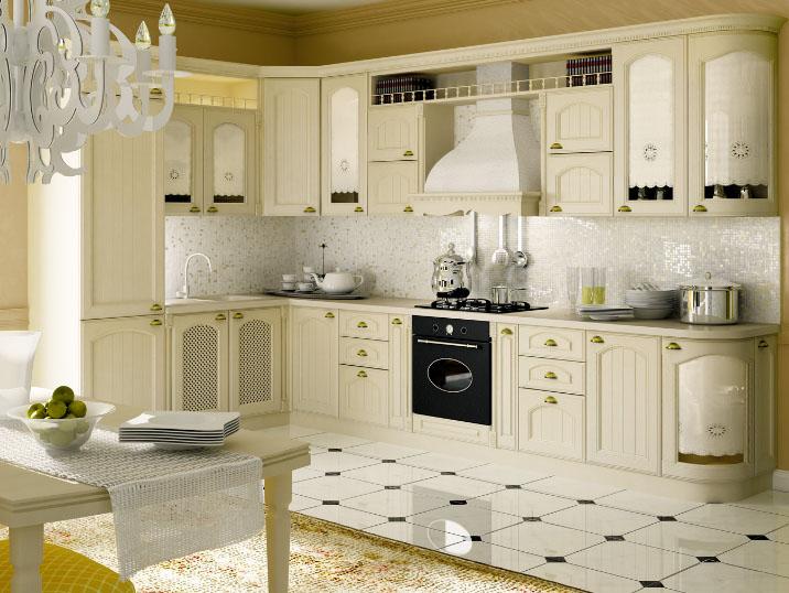 кухня цвета сливок