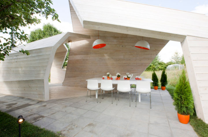 летняя кухня беседка в загородном доме