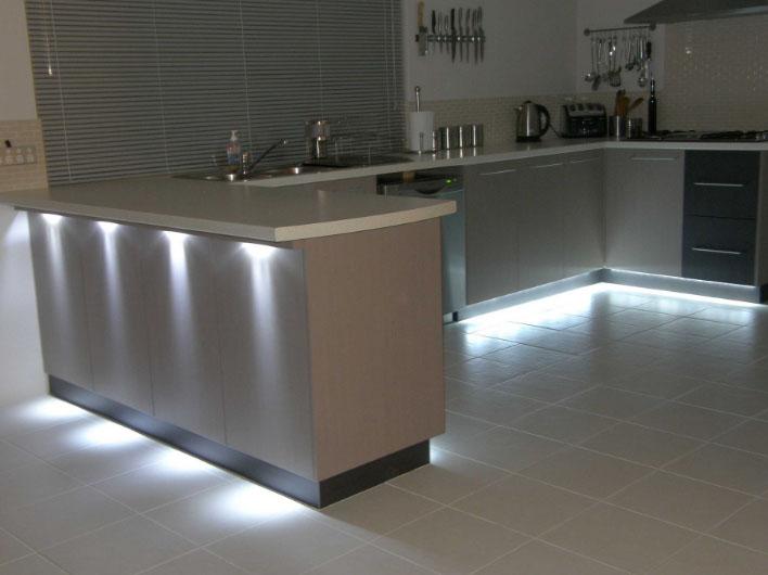оригинальная подсветка кухни