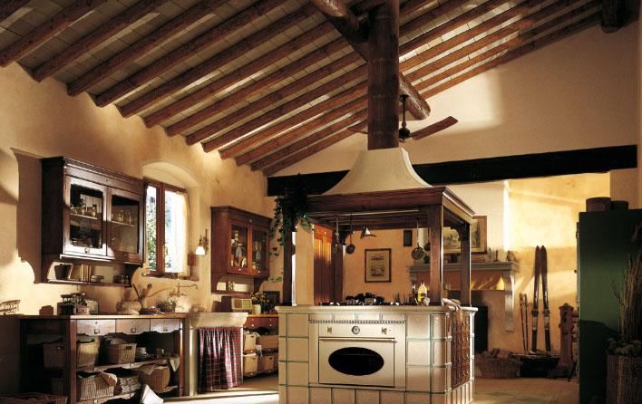 оригинальный стиль Кантри в интерьере кухни
