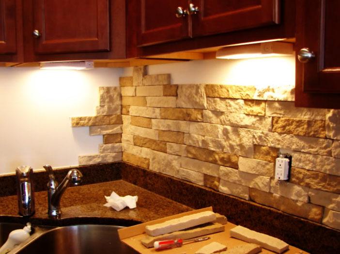 Ремонт кухни искусственным камнем