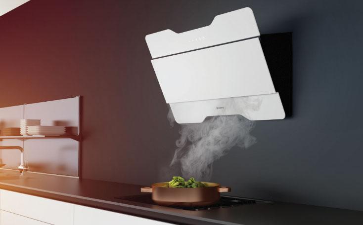 современная вытяжка на кухне