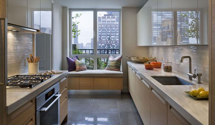 кухня прямоугольная