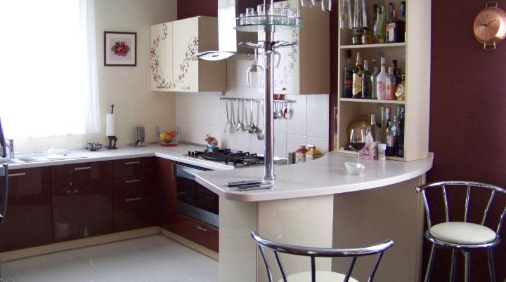 Барная стойка на современной кухне